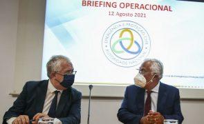 Incêndios: Costa pede que portugueses evitem comportamentos de risco nos próximos dias