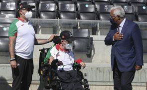 Paralímpicos: Costa promete apoio à distância e ambiciona chegar às 100 medalhas