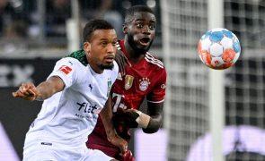Campeão Bayern estreia-se com empate a um golo em Monchengladbach com Borússia