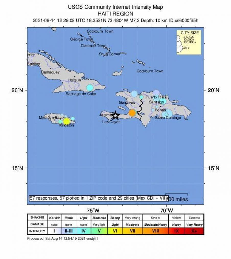 Haiti: Alerta de tsunami após sismo de magnitude de 7,2, com mortos já confirmados