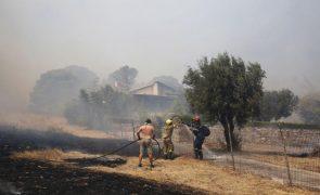 Dois incêndios perto de Atenas levam à evacuação de cinco aldeias por precaução