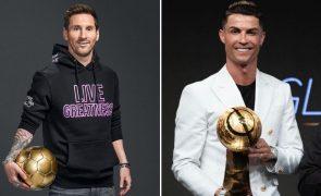 Messi vence Ronaldo com as três fotos com mais 'gostos' no Instagram