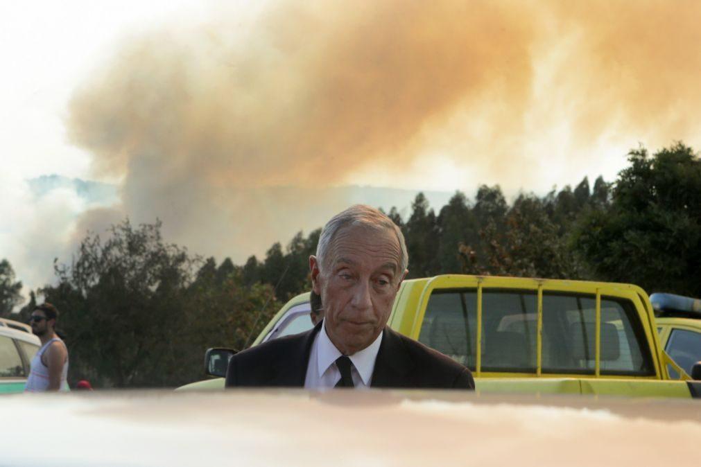 Marcelo agradece solidariedade e pede resposta sobre responsabilidades nos incêndios