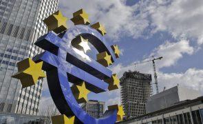 Euro cai e segue ligeiramente acima de 1,17 dólares
