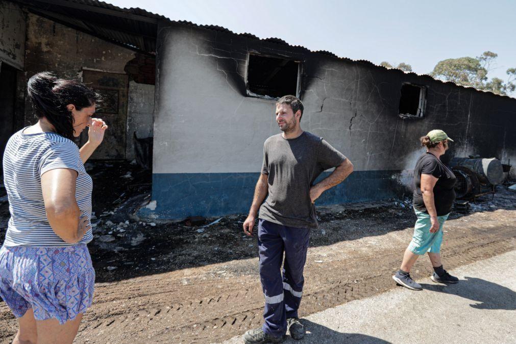 Moradores de Castro Marim revoltados por falta de apoio no combate ao fogo