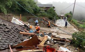 Chuva intensa no Japão provoca oito mortos e muitos estragos