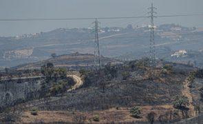Consolidação e rescaldo do incêndio no Algarve mobilizam 451 operacionais