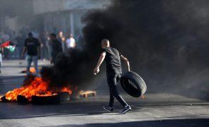 Confrontos na Faixa de Gaza fazem 24 feridos do lado palestiniano