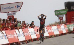 Vuelta: Caruso vence nona etapa, Roglic amplia vantagem na frente