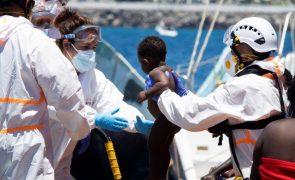 Situação de migrantes a bordo de navio no Mediterrâneo