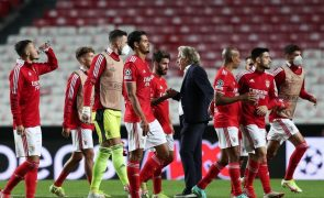 LC: Jorge Jesus diz que Benfica vai visitar PSV Eindhoven