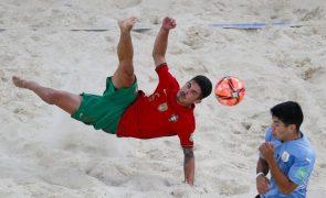 Portugal perde com Uruguai e é eliminado na fase de grupos do Mundial de futebol de praia