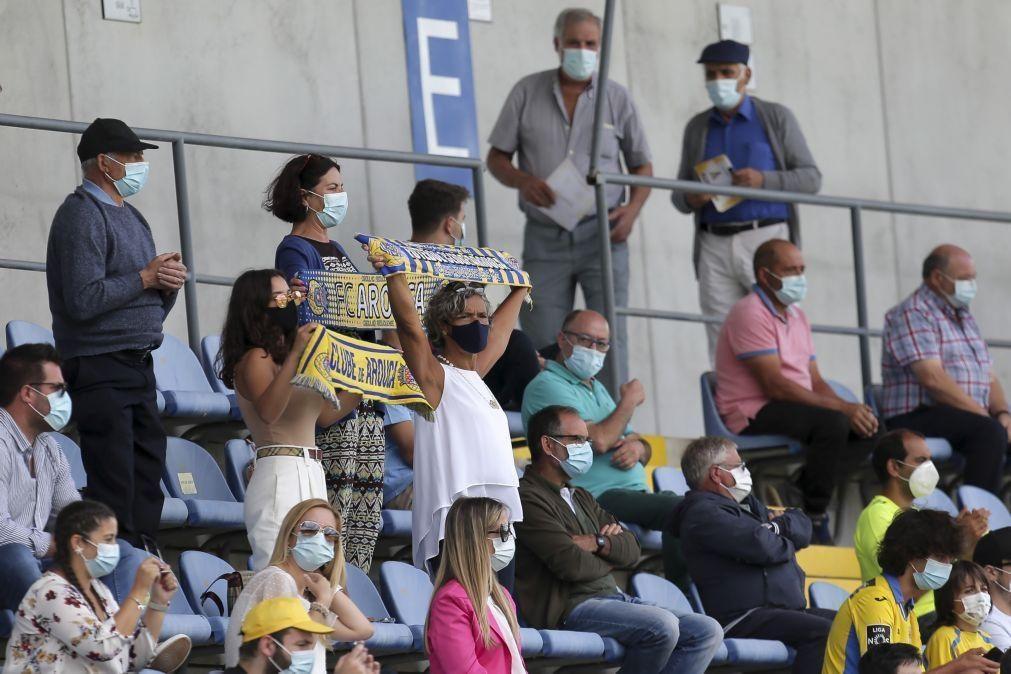 Liga confirma aumento da lotação dos estádios para 50%