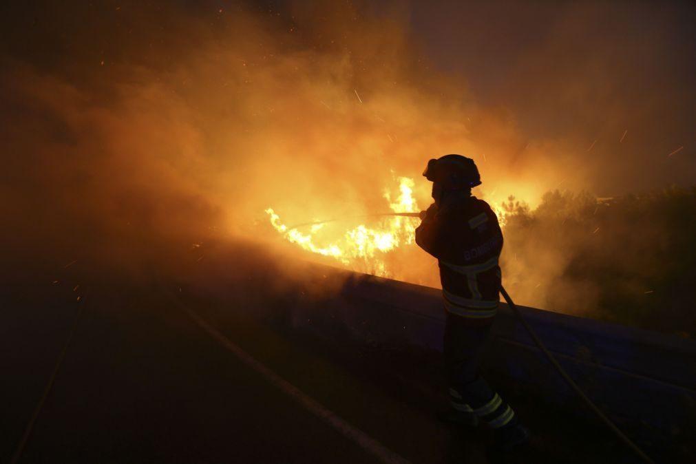 Fogo de Alijó aproxima-se de mais uma aldeia cinco pessoas foram retiradas