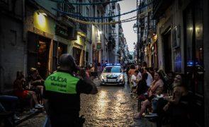 Covid-19: PSP deteve 11 pessoas no Bairro Alto e Cais do Sodré por incumprimento de regras