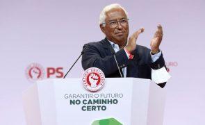 PS/Congresso: Costa promete reforçar Estado Social e afirma que país já converge com a UE
