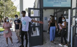 Covid-19: Mais de 76 mil pessoas vacinadas até às 18:30 de hoje, a maioria jovens