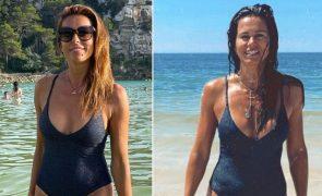 Catarina Furtado e Cláudia Vieira usam fato de banho igual