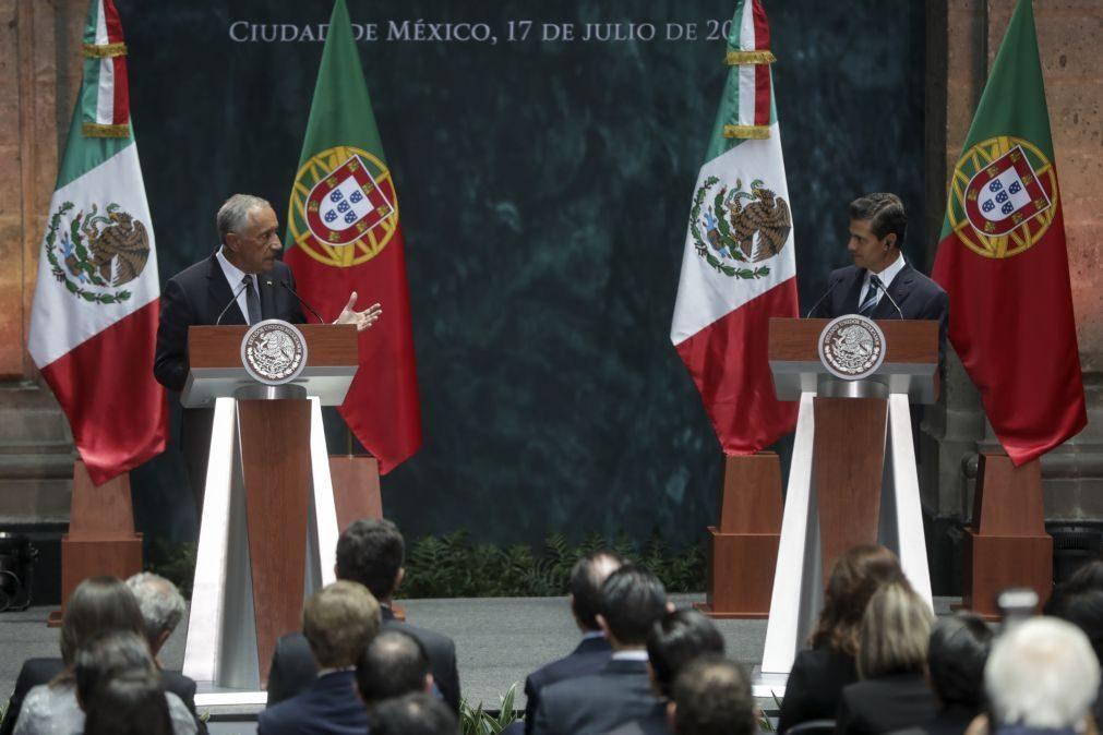 Marcelo e Peña Nieto aliados pelo comércio livre e contra alterações climáticas