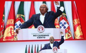 PS/Congresso: Costa promete mais apoios aos jovens e guerra à precariedade e abusos laborais