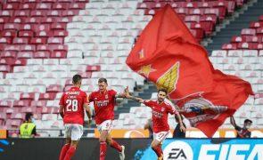 Benfica isola-se na liderança da I Liga ao vencer Tondela