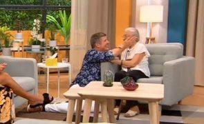 João Baião concretiza sonho de senhora com 96 anos e emociona o país