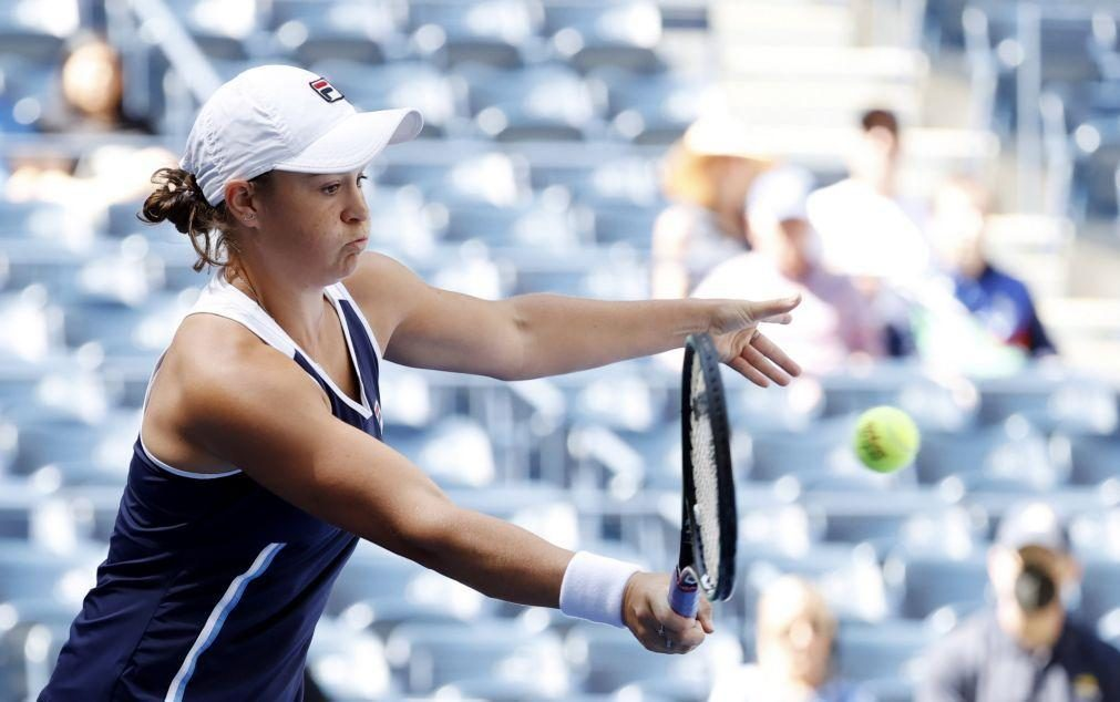 Ashleigh Barty eliminada na terceira ronda do US Open pela norte-americana Shelby Rodgers
