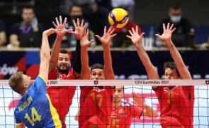 Voleibol/Europeu: Portugal perde com Ucrânia e compromete 'oitavos'