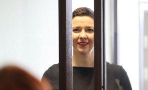 Dois oposicionistas condenados a pesadas penas de prisão na Bielorrússia