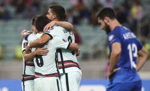 Mundial2022: Portugal vence ao intervalo em Baku por 2-0