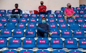 Covid-19: Autorizado aumento da lotação do estádio para o Santa Clara-Benfica