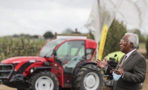 Covid-19: Costa diz que Portugal tem dívida de gratidão para com os agricultores