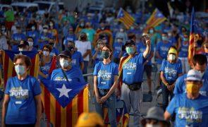 Independentistas testam capacidade de mobilização em manifestação do Dia da Catalunha