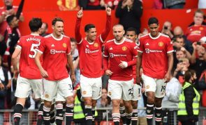 Cristiano Ronaldo marca primeiro golo no regresso ao Manchester United