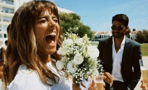 O look fresco e descontraído de Filipa Nascimento no casamento pelo civil com Duarte Gomes