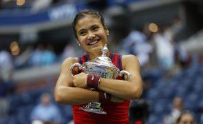 Vitória no Open dos Estados Unidos leva Emma Raducanu ao 'top 25' mundial