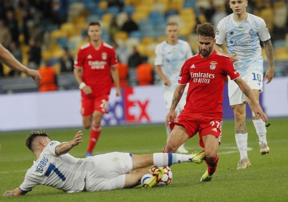 Benfica empata a zero em Kiev na estreia da Liga dos Campeões