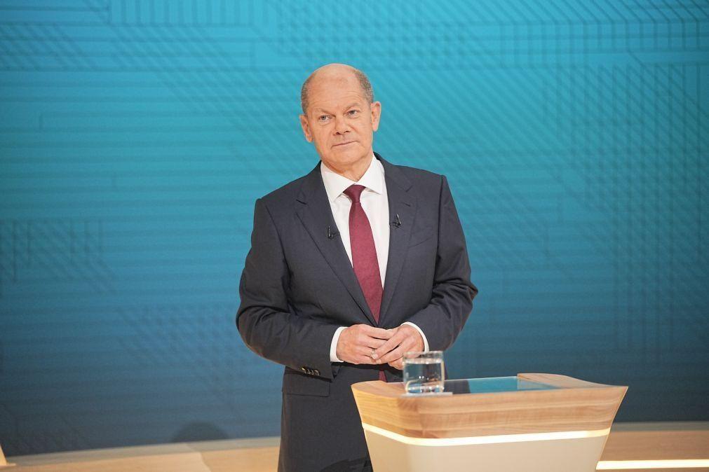 Alemanha/Eleições: Scholz vai dar explicações ao parlamento dias antes da votação