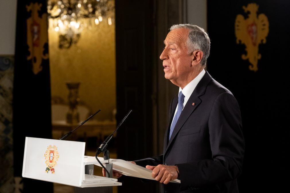 Marcelo alerta que subida dos preços da energia pode ser um travão à recuperação económica