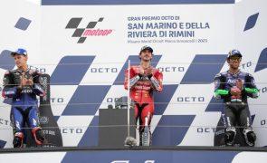 Francesco Bagnaia ganha pela segunda vez consecutiva em MotoGP