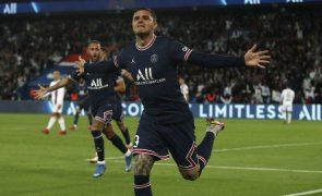 Icardi herói do PSG face ao Lyon no primeiro jogo de Messi em Paris