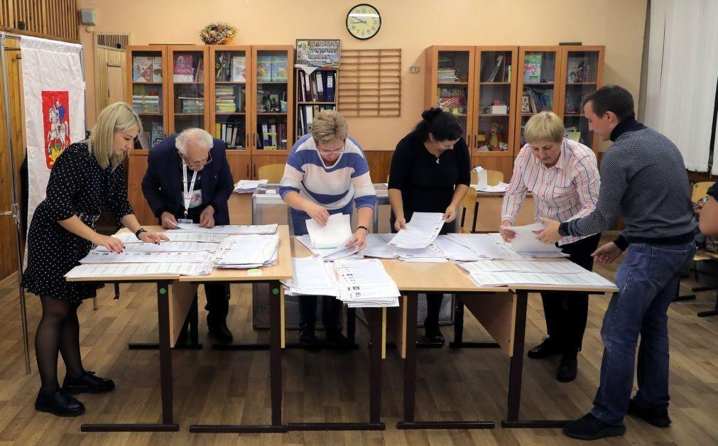 Rússia Unida anuncia vitória nas legislativas, com maioria ainda por apurar