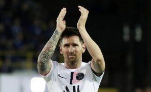 Messi falha deslocação do PSG ao Metz devido a lesão