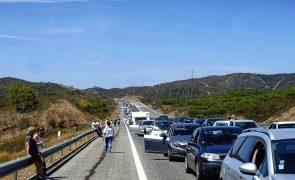 Trânsito retomado mas condicionado na A2 entre Castro Verde e Almodôvar
