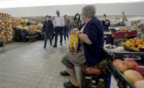 Autárquicas: Catarina Martins num mercado vazio, mas cheio de lamentos dos vendedores
