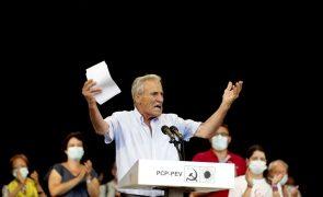 Autárquicas: Jerónimo apontou ao PS em campanha nos bastiões comunistas