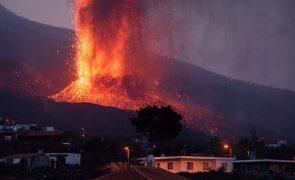 Cone do vulcão Cumbre Vieja colapsa parcialmente