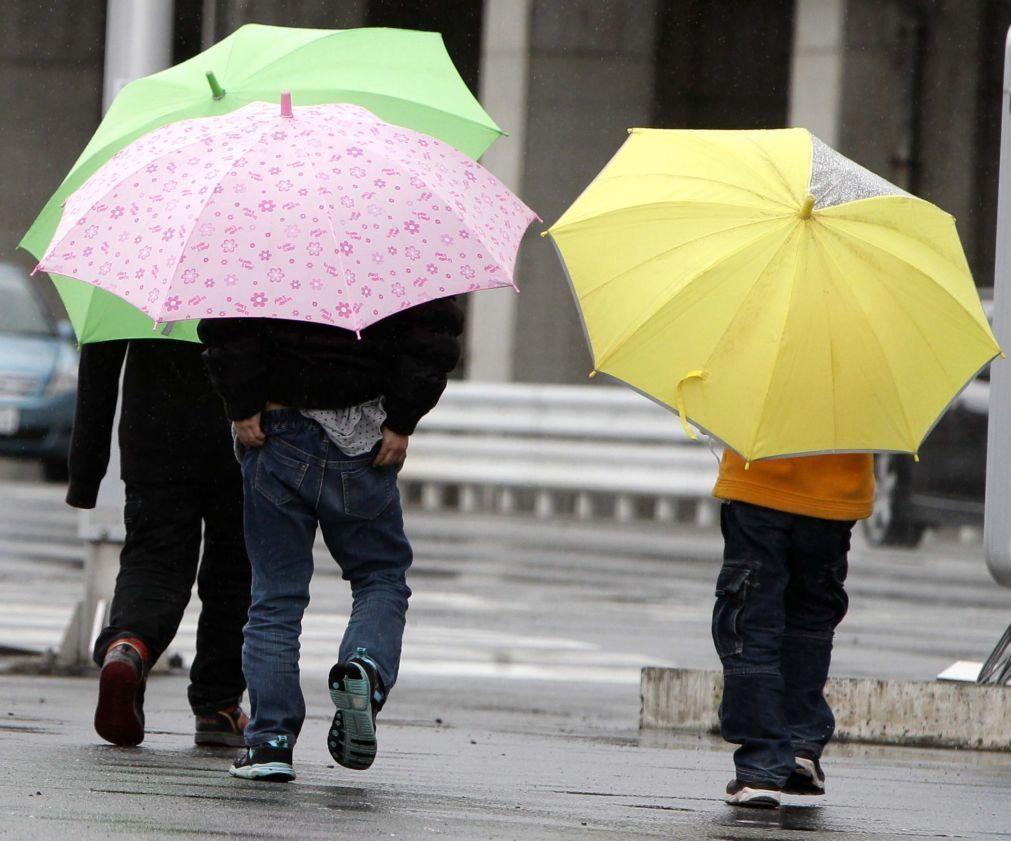 Dia de eleições com períodos de chuva no Norte e Centro