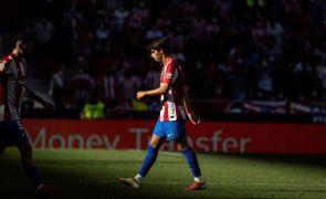 Federação espanhola confirma castigo de Félix, Atlético Madrid recorre para o TAD