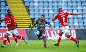Santa Clara empata Sporting de Braga com golo nos descontos